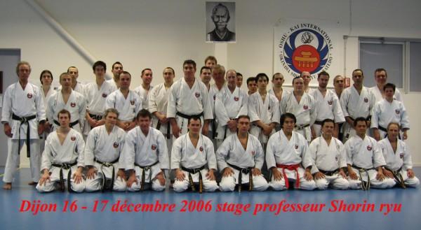 Stage de karate Dijon du 16 et 17 décembre 2006